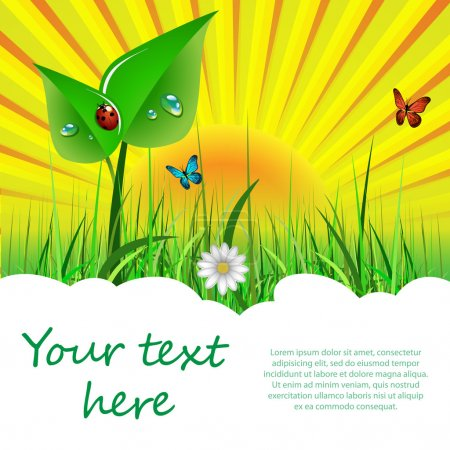 Ecological Background for Web and Design Template