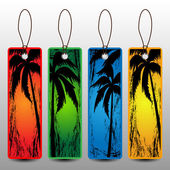 Summer Holiday Banners Price Tags With Palm Trees