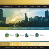 Website Design Template for Your Business with City Skyline Background - Melbourne