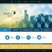 Flat Styled Website Design for Your Real Estate Business with Tall Skyscraper Background
