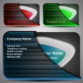 Colorful Futuristic Business Cards Template Layout with Abstract Design for Technology - Illustration in Freely Scalable and Editable Vector Format
