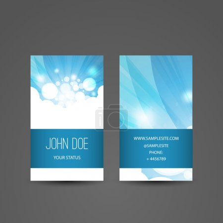 Illustration for Abstract Colorful Modern Styled Vertical Business Card Template, Back and Front Side, Creative Design - Illustration in Freely Editable Vector Format - Royalty Free Image