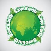 Save the Earth - Green Eco Earth Globe Background