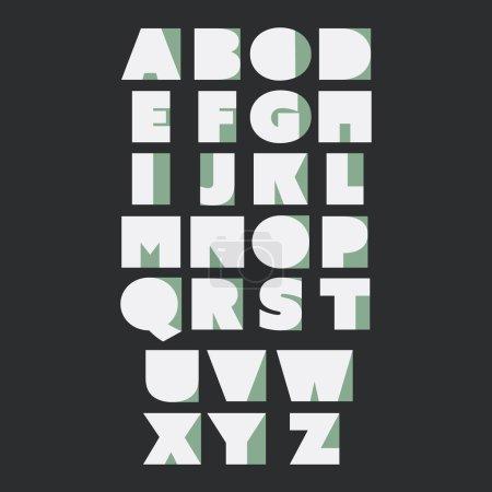 Paper Cut Alphabet Set - Minimal Letters Design