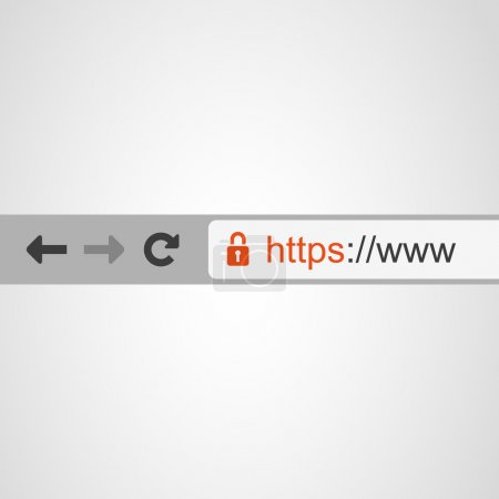 Browser Address Bar with HTTPS Protocol Sign