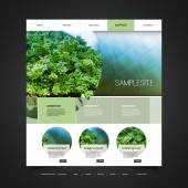 Website Design for Your Business with Ecological Natural Themed Background Header