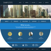 One Page Website Template with Unique Design - Singapore City View