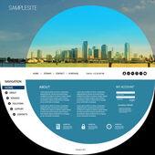 Website Template with Unique Design - Miami Skyline