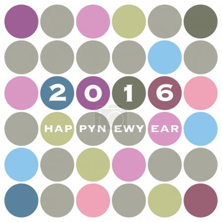New Year Card Background Design - 2016