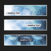 Collection of Three Colorful Bright Patterned Header and Banner Designs for Ad or Web Campaign or Announcement - Creative Design Illustration in Freely Scalable and Editable Vector Format