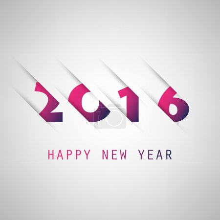 Simple Purple And Blue New Year Card, Cover or Background Design Template - 2016