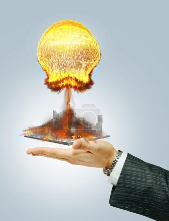 Nuclear explosion at hand