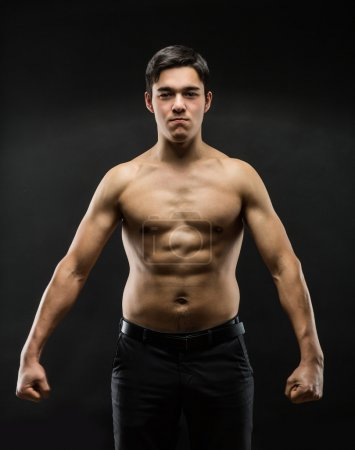 Strong male fighter