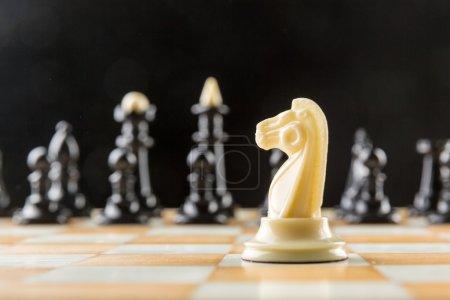 White knight standing