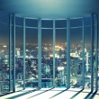 Night view of buildings from the last floor of hig...