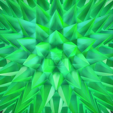 shimmering green crystals