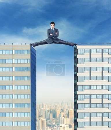 Businessman on the skyscrapers