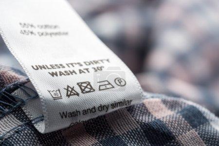 Cloth label in Closeup