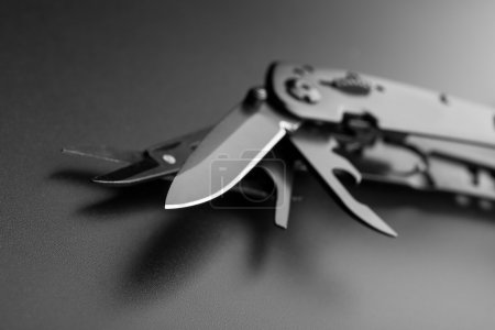 Opened multitool knife