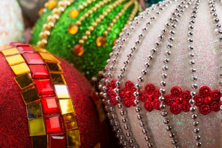 Colorful christmas balls