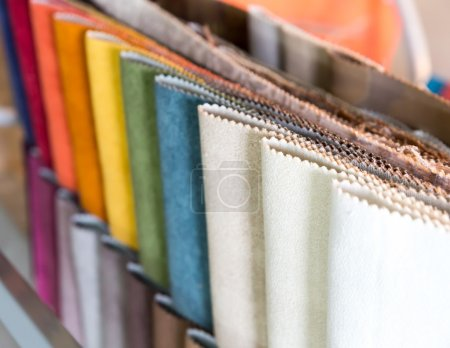Colorful samples of fabrics