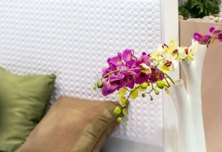 Decorative flowers in bedroom