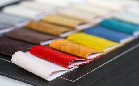 Colorful fabrics samples