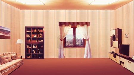Interior of big luxurious room