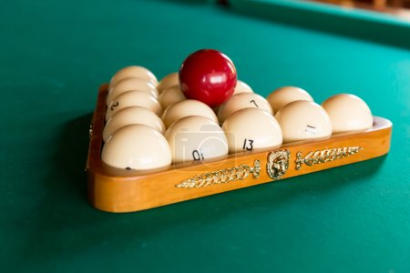 Luxurious billiard table with balls