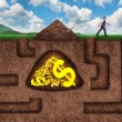 Businessman made many tunnels to get treasure unde...