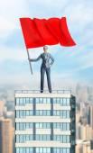 Žena hospodářství rudá vlajka