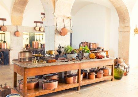 Kitchen interior with kitchenware