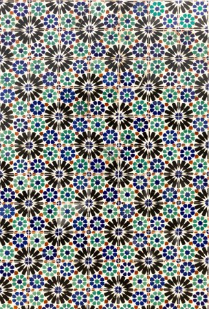 Photo for Mosaic pattern of ceramic tiles - Royalty Free Image