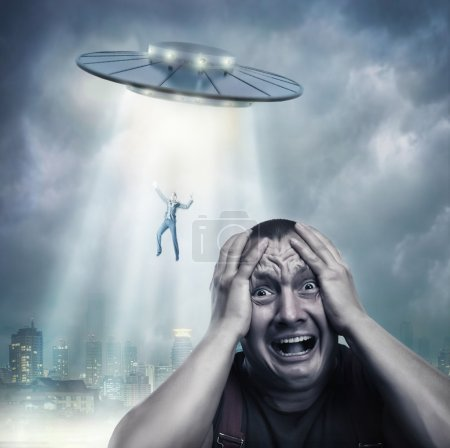 Scared by UFO man