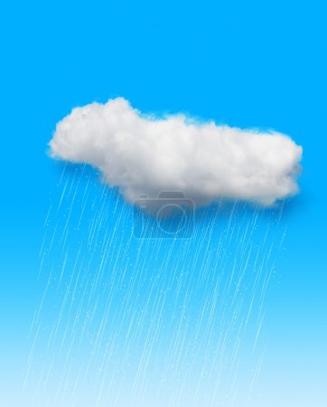 Cloud with rain background