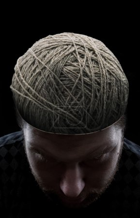 Man with threads in his head