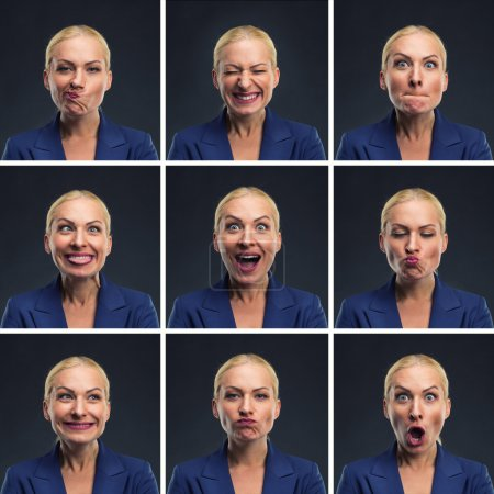 Woman making expressions
