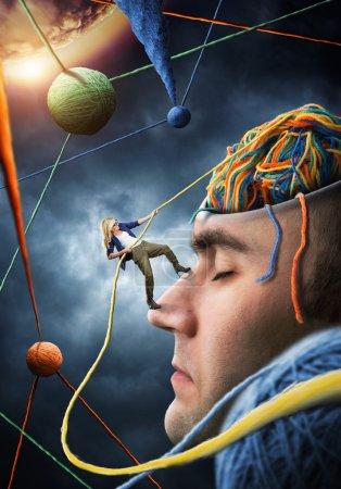 Confident psychologist solving client problems