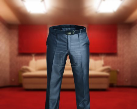 Male trousers in the room