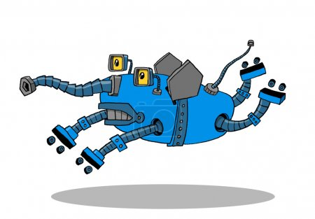 Photo pour Animal mécanique, robot, courses de jouets, pressé - image libre de droit