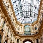 Glass dome of Galleria Vittorio Emanuele in Milan,...