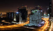 Construction sites in Dubai at night