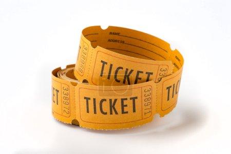 Photo pour Un rouleau de vieux billets en papier avec des numéros - image libre de droit