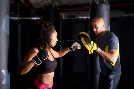Couple training together
