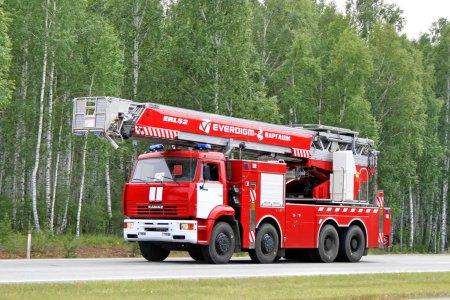 КАМАЗ пожарная лестница