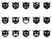 Devilish expressions smiley icons