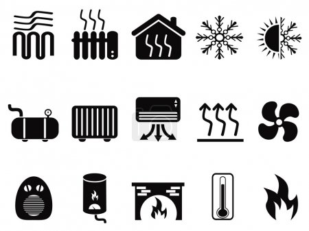 black heating icons
