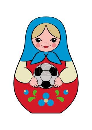 football matryoshka doll