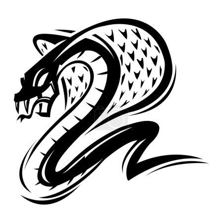 Illustration pour Cobra icône vecteur de serpent - image libre de droit