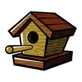 Wooden Birdhouse Bird Feeder vector icon